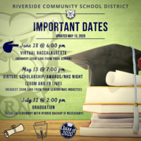 Important Dates - End of the 2019-2020 School Year