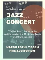 Riverside Jazz Concert Thursday March 25,  2021 7:00 PM